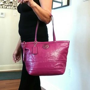 Coach Berry Patent Leather Tote NWT!